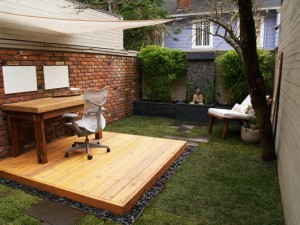 Cool outdoor office